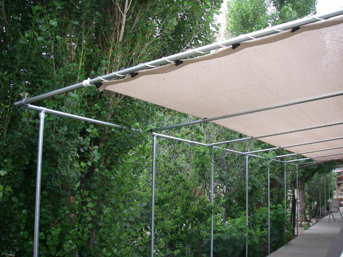 Shade cloth is the answer to all of your excess solar heat gain problems. - How To Install, Design, And Order Patio Pergola Knit Shade Covers