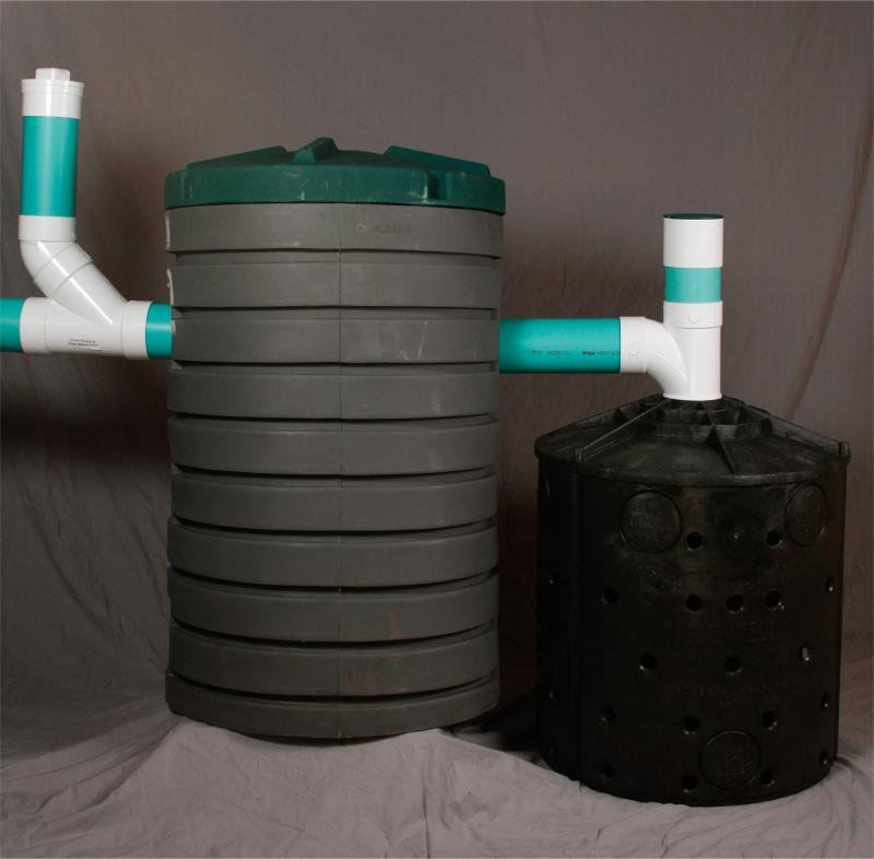 Greywater disposal system with drywell